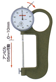 PEACOCK(尾崎製作所) ダイヤルシックネスゲージ (厚み測定器) 0.01mmタイプ G-4