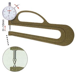 PEACOCK(尾崎製作所) ダイヤルシックネスゲージ (厚み測定器) 0.01mmタイプ H-2