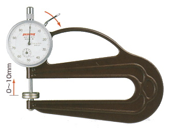 PEACOCK(尾崎製作所) 用途別 ダイヤルシックネスゲージ (厚み測定器) 0.01mmタイプ H-20