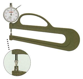 PEACOCK(尾崎製作所) ダイヤルシックネスゲージ (厚み測定器) 0.01mmタイプ H-3