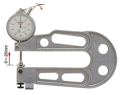 PEACOCK(尾崎製作所) ダイヤルシックネスゲージ 大型タイプ (厚み測定器) J-A
