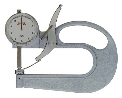PEACOCK(尾崎製作所) ダイヤルシックネスゲージ 大型タイプ (厚み測定器) J-B