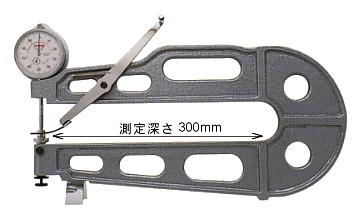 PEACOCK(尾崎製作所) ダイヤルシートゲージ (厚み測定器) 0.01mmタイプ K-1