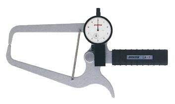 PEACOCK(尾崎製作所) ダイヤルキャリパーゲージ LA(外測)タイプ (外径、厚さ測定用) LA-1