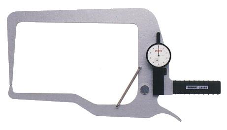 PEACOCK(尾崎製作所) ダイヤルキャリパーゲージ LA(外測)タイプ (外径、厚さ測定用) LA-13
