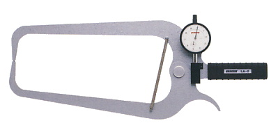 PEACOCK(尾崎製作所) ダイヤルキャリパーゲージ LA(外測)タイプ (外径、厚さ測定用) LA-2