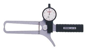 上品なスタイル LA-20:道具屋さん店 ダイヤルキャリパーゲージ (外径、厚さ測定用) PEACOCK(尾崎製作所) LA(外測)タイプ-DIY・工具