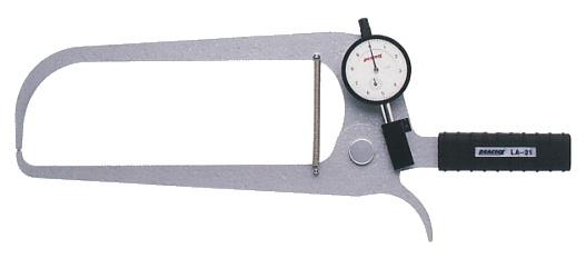 PEACOCK(尾崎製作所) ダイヤルキャリパーゲージ LA(外測)タイプ (外径、厚さ測定用) LA-21