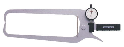 PEACOCK(尾崎製作所) ダイヤルキャリパーゲージ LA(外測)タイプ (外径、厚さ測定用) LA-23