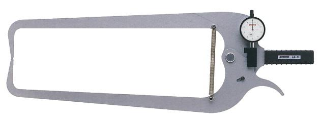 PEACOCK(尾崎製作所) ダイヤルキャリパーゲージ LA(外測)タイプ (外径、厚さ測定用) LA-3