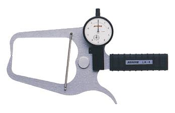 PEACOCK(尾崎製作所) ダイヤルキャリパーゲージ LA(外測)タイプ (外径、厚さ測定用) LA-4