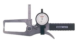 PEACOCK(尾崎製作所) ダイヤルキャリパーゲージ LA(外測)タイプ (外径、厚さ測定用) LA-7