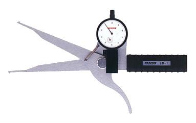 PEACOCK(尾崎製作所) ダイヤルキャリパーゲージ LB(内測)タイプ (内径、溝幅測定用) LB-1