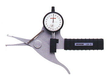 PEACOCK(尾崎製作所) ダイヤルキャリパーゲージ LB(内測)タイプ (内径、溝幅測定用) LB-3