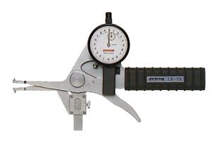 PEACOCK(尾崎製作所) ダイヤルキャリパーゲージ LB(内測)タイプ (内径、溝幅測定用) LB-7V