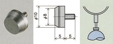 PEACOCK(尾崎製作所) 超硬平皿形測定子 XB-505