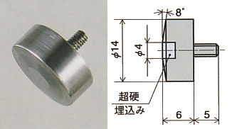 PEACOCK(尾崎製作所) 超硬平皿形測定子 XB-506