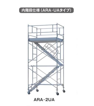 【直送品】 PiCa (ピカ) アルミパイプ製移動式足場ローリングタワー ARA-2UA (内階段仕様)【法人向け・個人宅配送不可】 【送料別】