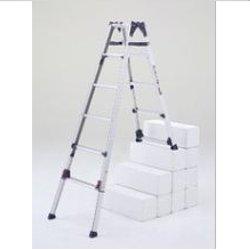 【直送品】 PiCa (ピカ) 四脚アジャスト式はしご兼用脚立(階段用) かるノビ SCL-23A