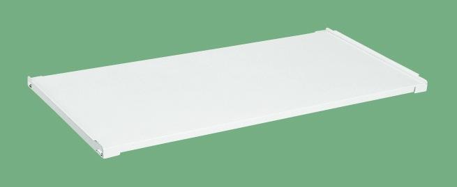 【直送品】 サカエ (SAKAE) 作業台用オプション固定棚(パールホワイト) KK-1275KW (533002) 《パールホワイト・色管理》