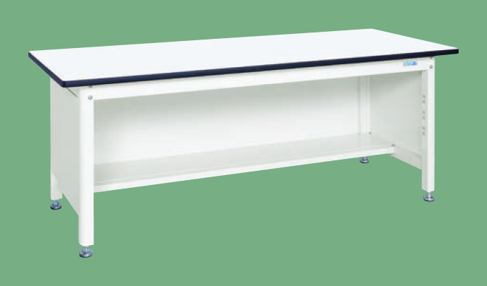 【直送品】 サカエ (SAKAE) 中量作業台(扇形支柱・三方パネル仕様) KF-69PW (035049) 《パールホワイト・色管理》 【大型】