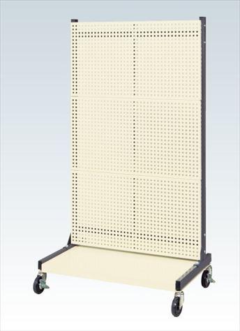 【代引不可】 サカエ (SAKAE) ラックシステム(ルーバーパネルタイプ移動式) PLS-3PDR (130666) 《パネルハンガー・パーティション》 【大型】