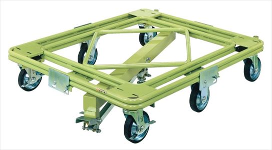 【代引不可】 サカエ (SAKAE) 自在移動回転台車(超重量型・センターベース付) RH-1KG (218729) 《荷役・運搬機器》 【大型】
