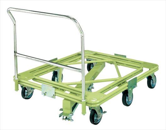 【代引不可】 サカエ (SAKAE) 自在移動回転台車(超重量型・取手・センターベース付) RH-3FG (218733) 《荷役・運搬機器》 【大型】