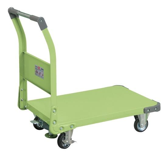 【代引不可】 サカエ (SAKAE) 特製四輪車(フロアストッパー付) TAN-33F (211248) 《荷役・運搬機器》 【大型】