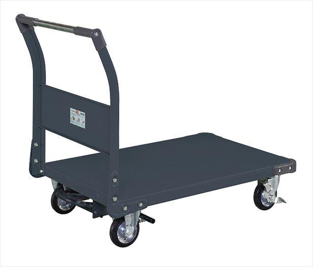 【直送品】 サカエ (SAKAE) 特製四輪車(フットブレーキ付) TAN-55BRD (211185) 《荷役・運搬機器》 【大型】