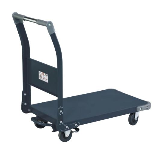 【直送品】 サカエ (SAKAE) 特製四輪車(フットブレーキ付) TAN-11BRD (211220) 《荷役・運搬機器》 【大型】