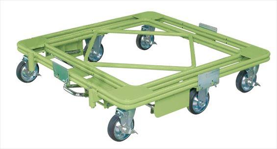 【代引不可】 サカエ (SAKAE) 自在移動回転台車(超重量型・フットブレーキ付) RH-2FBG (212067) 《荷役・運搬機器》 【大型】