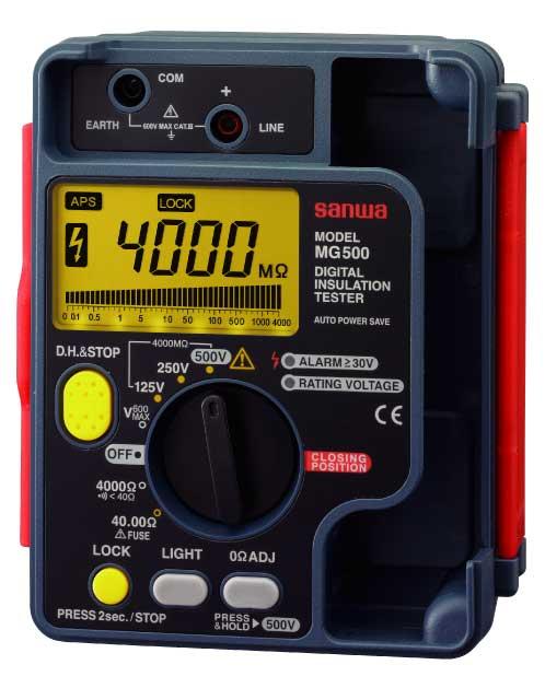 三和電気計器 (SANWA) 絶縁抵抗計 MG1000