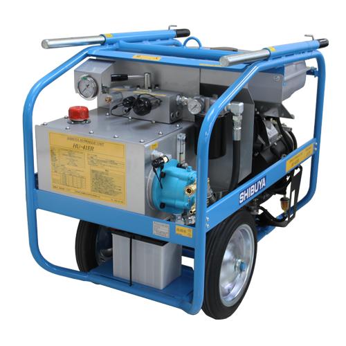 【直送品】 シブヤ エンジン油圧ユニット HU-41ER (047908) (エンジンタイプ) 【大型】