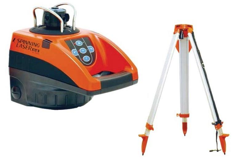 「はかるもの」をはじめとした確かな道具を提供! シンワ測定 スピニングレーザー H-2 平面脚頭式三脚付 76490