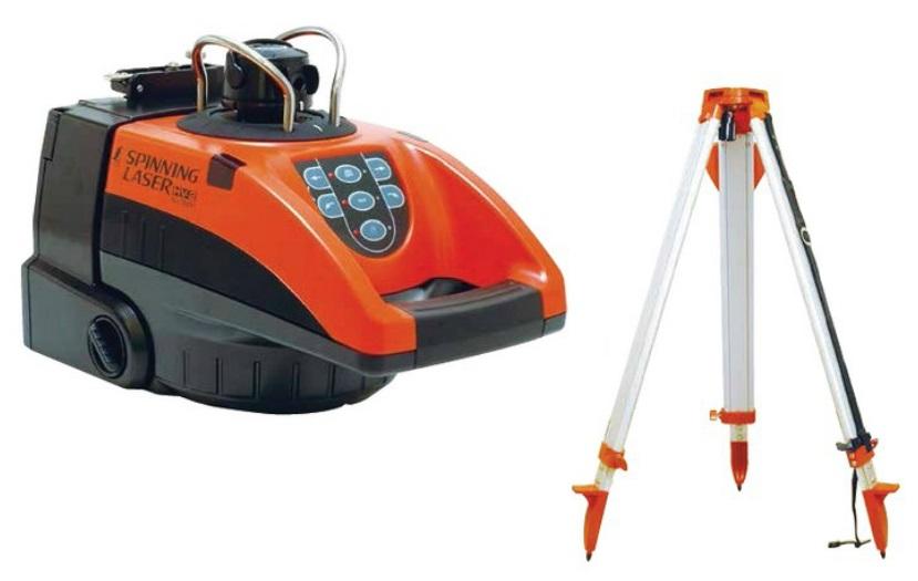 シンワ測定 スピニングレーザー HV-2 平面脚頭式三脚付 76497