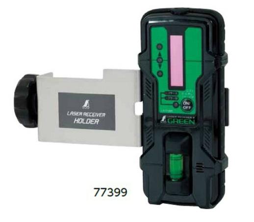 シンワ測定 受光器 レーザーレシーバー II グリーン用 ホルダー付 77399