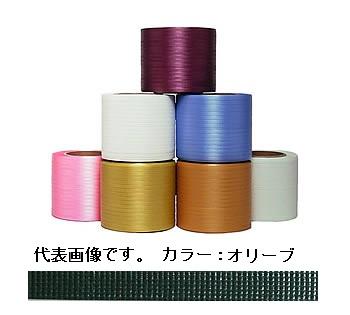 イチネンSHOKO SPOT (スポット) ティピーテープ FT-07 (セミ) オリーブ 750m×6巻(巾8mm) (FT-07SEMI) 《梱包資材》