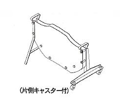 イチネンSHOKO SPOT (スポット) 帯鉄用コイルスタンド キャスター2個付き W-STAND-C2 《梱包機材》