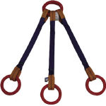 高品質新品 リング フックを付けて用途拡大 直送品 シライ 東レ KTRR シグナルスリング 2t×2.5m 気質アップ 金具付 トリプル形