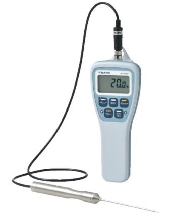 佐藤計量器製作所 防水型デジタル温度計 SK-270WP (センサ付) (No.8078-00)