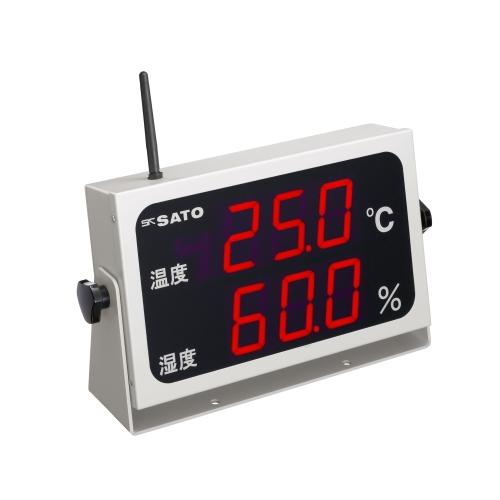 佐藤計量器製作所 コードレス温湿度表示器 SK-M350R-TRH (No.8102-00)