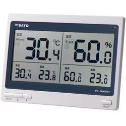プレゼント 最高最低温湿度を常時表示 新生活 佐藤計量器製作所 デジタル温湿度計 No.1074-00 PC-5400TRH