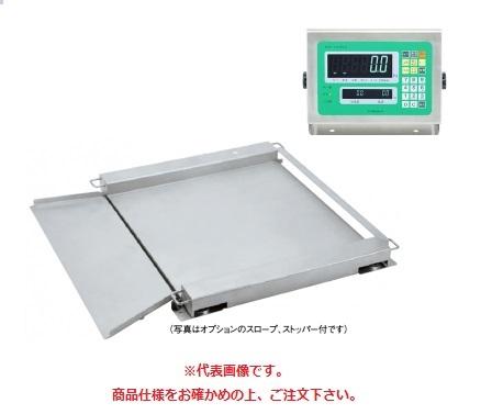 【直送品】 田中衡機 (TANAKA) フロアスケール(ステンレスシリーズ) UTTII-1500-S 1000mmX1200mm (UTT2-1500-S1012) (検定付)