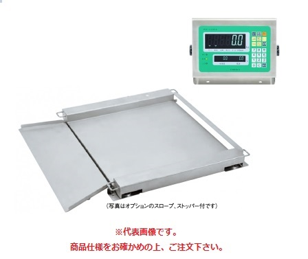 【直送品】 田中衡機 (TANAKA) フロアスケール(ステンレスシリーズ) UTTII-600-S 1200mmX1200mm (UTT2-600-S1212) (検定付)