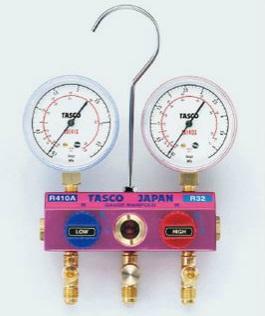 TASCO (タスコ) R410A/R32ボールバルブ式ゲージマニホールド TA122GH