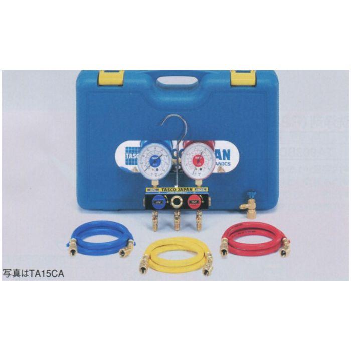 TASCO (タスコ) R22、R12、R500、R502、マニホールドセット(チャージバルブ付) TA15DB
