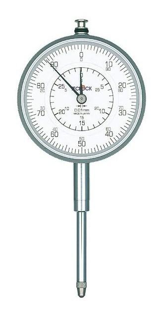 テクロック (TECLOCK) 0.01mm目盛長ストロークダイヤルゲージ KM-130D 【受注生産】