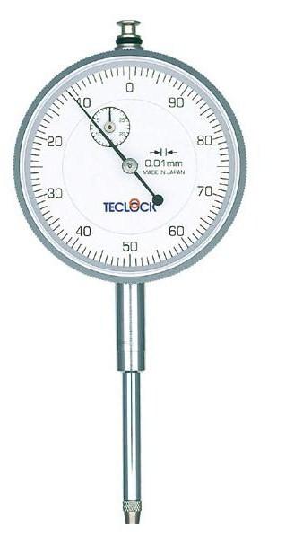 テクロック (TECLOCK) 0.01mm目盛長ストロークダイヤルゲージ KM-130R