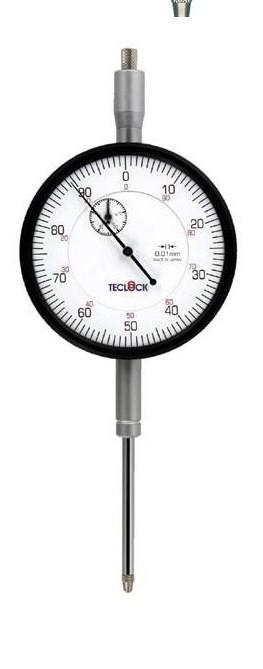 最新デザインの (TECLOCK) 【ポイント10倍】 大形長ストロークダイヤルゲージ テクロック KM-155:道具屋さん店-DIY・工具